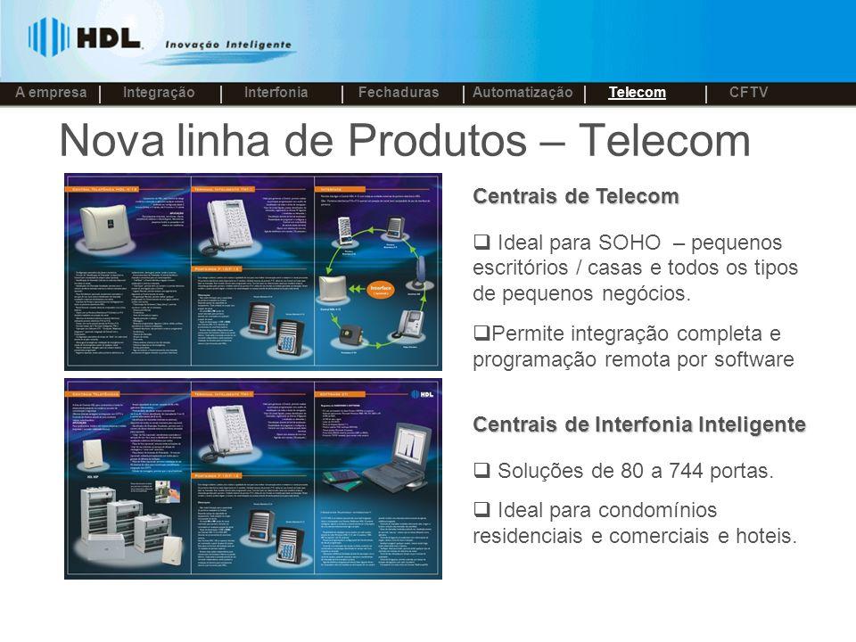 Nova linha de Produtos – Telecom Centrais de Telecom Ideal para SOHO – pequenos escritórios / casas e todos os tipos de pequenos negócios.
