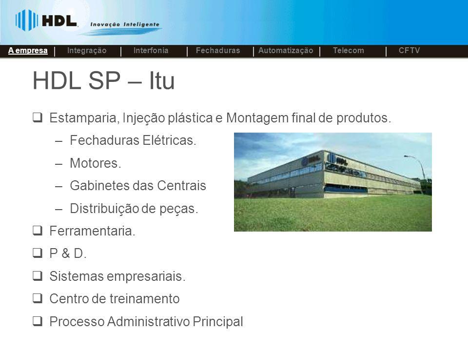 HDL SP – Itu Estamparia, Injeção plástica e Montagem final de produtos.