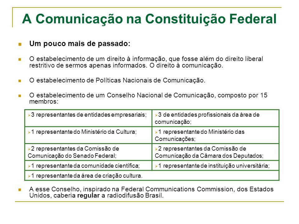 A Comunicação na Constituição Federal Voltemos às distorções normativas: § 1º - O Congresso Nacional apreciará o ato no prazo do art.