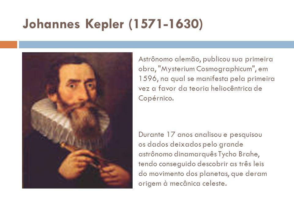 Johannes Kepler (1571-1630) Astrônomo alemão, publicou sua primeira obra,