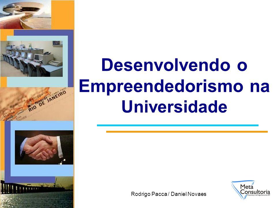 Rodrigo Pacca / Daniel Novaes Desenvolvendo o Empreendedorismo na Universidade