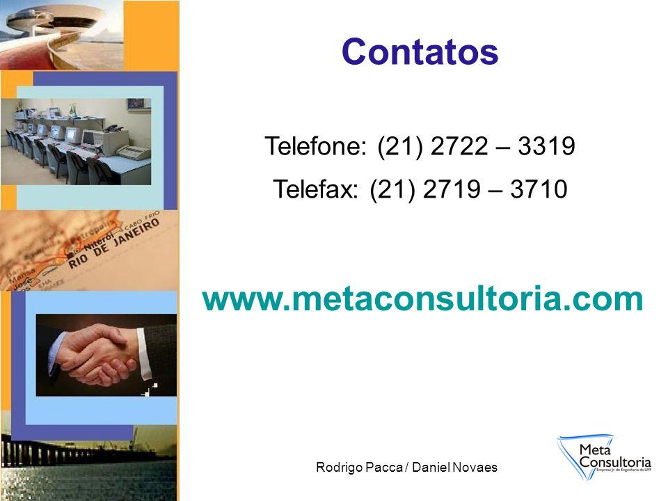 Rodrigo Pacca / Daniel Novaes Contatos Telefone: (21) 2722 – 3319 Telefax: (21) 2719 – 3710 www.metaconsultoria.com