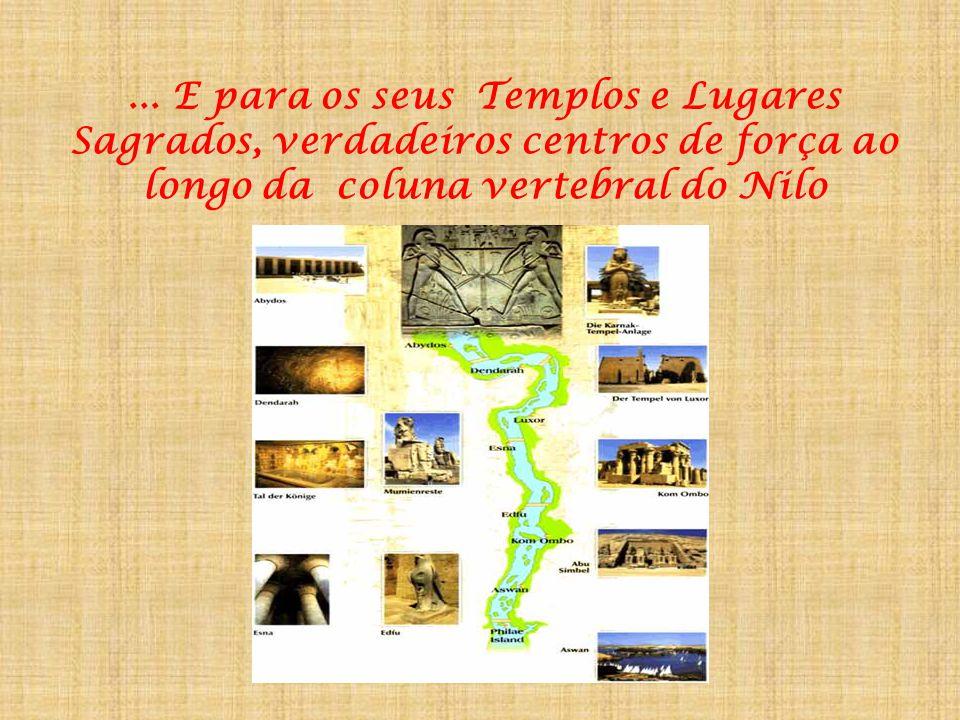 ... A profusão de deuses e deusas do panteão egipcio e os grandes temas Sagrados da Alma...