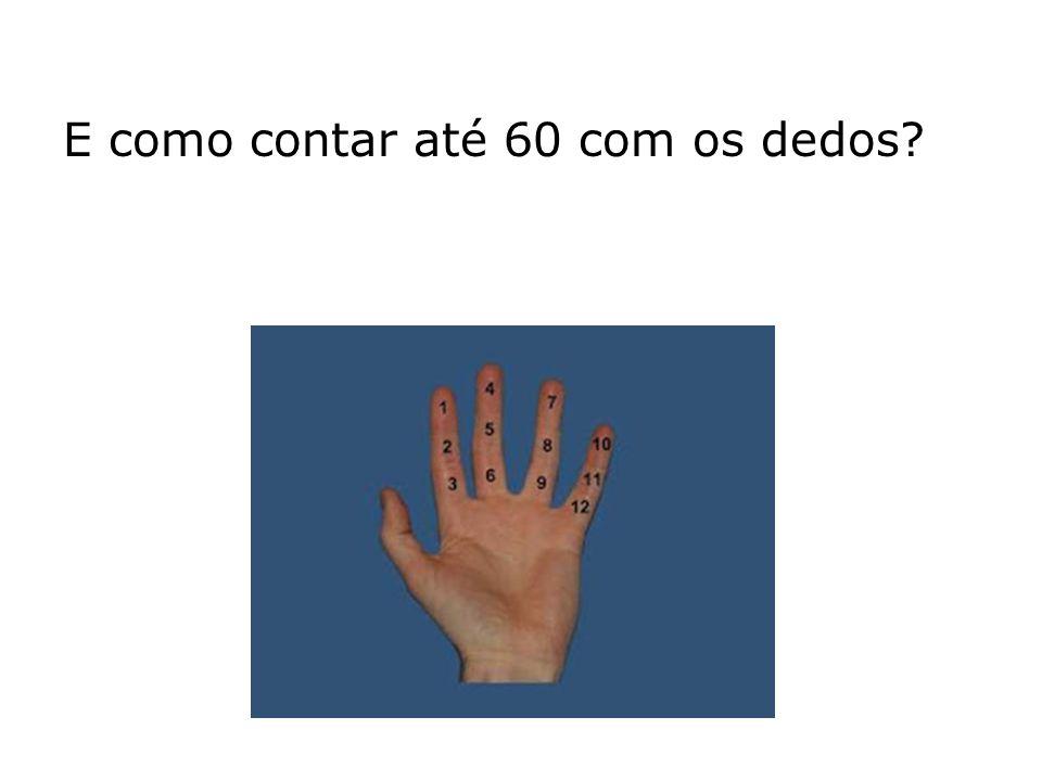 E como contar até 60 com os dedos?