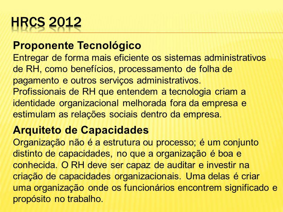 Proponente Tecnológico Entregar de forma mais eficiente os sistemas administrativos de RH, como benefícios, processamento de folha de pagamento e outr