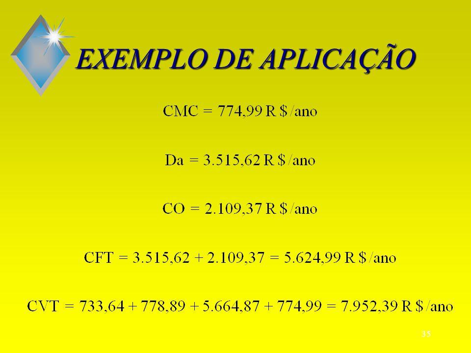 34 EXEMPLO DE APLICAÇÃO
