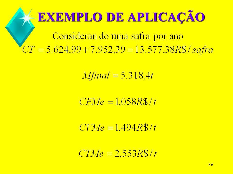35 EXEMPLO DE APLICAÇÃO