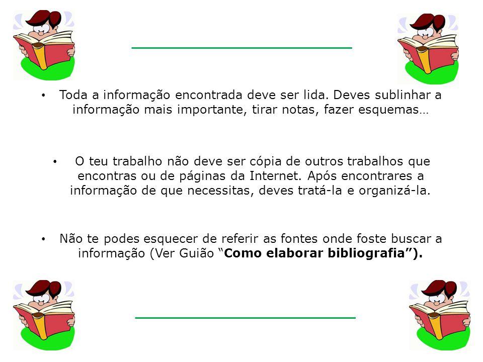 GUIÃO DE PESQUISA DE INFORMAÇÃO BIG6 O mundo da informação é imenso.