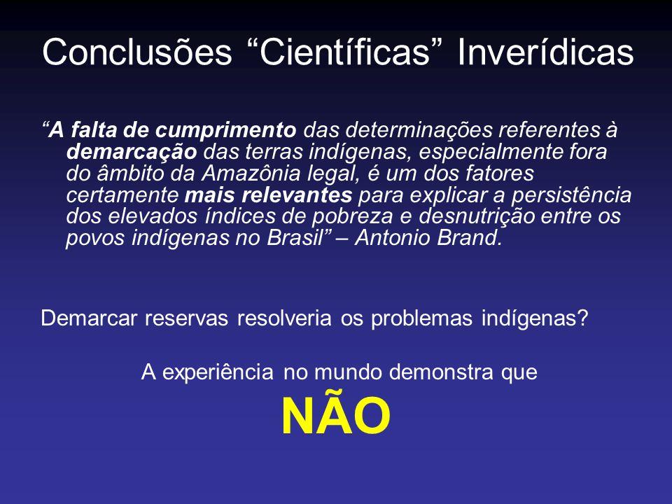 A falta de cumprimento das determinações referentes à demarcação das terras indígenas, especialmente fora do âmbito da Amazônia legal, é um dos fatore