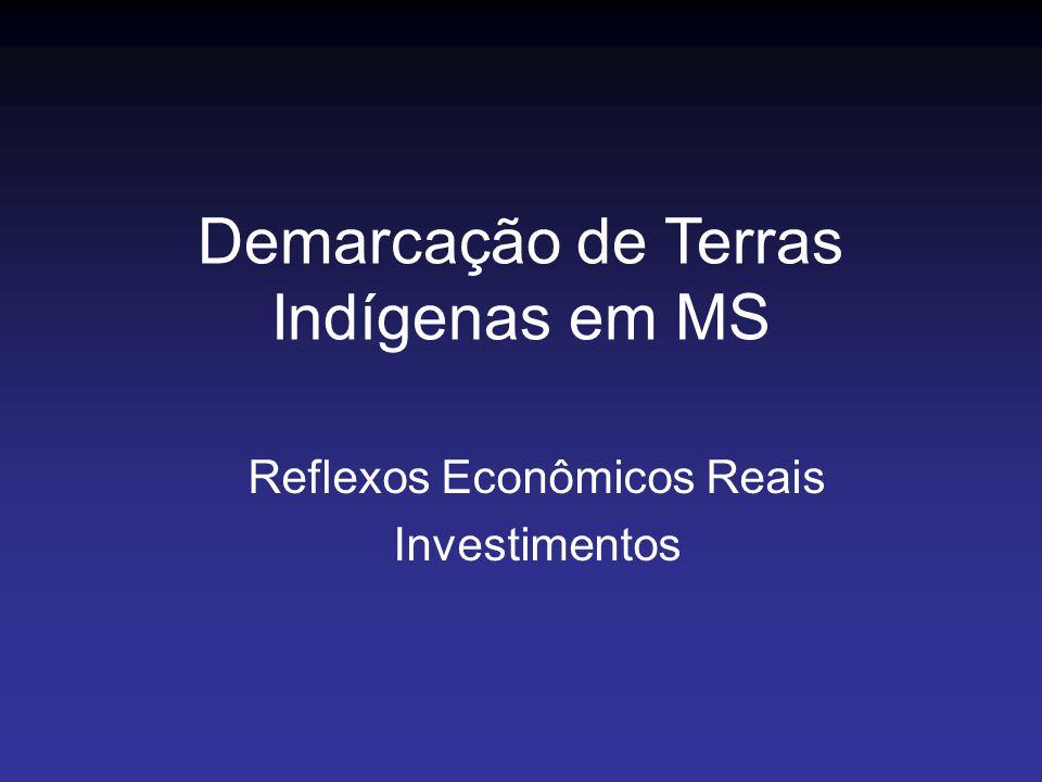 Reflexos Econômicos Reais Investimentos Demarcação de Terras Indígenas em MS