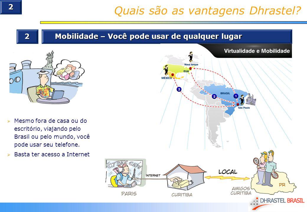 Quais são as vantagens Dhrastel? 2 Mobilidade – Você pode usar de qualquer lugar Mesmo fora de casa ou do escritório, viajando pelo Brasil ou pelo mun
