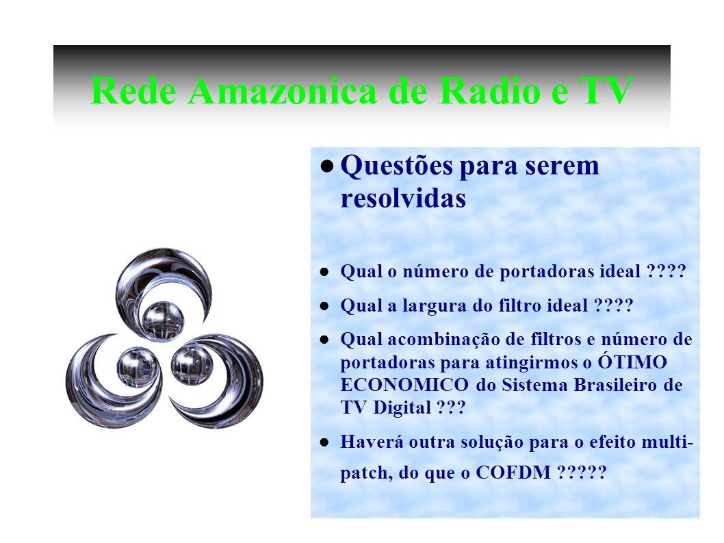 Rede Amazonica de Radio e TV Questões para serem resolvidas Qual o número de portadoras ideal ???.
