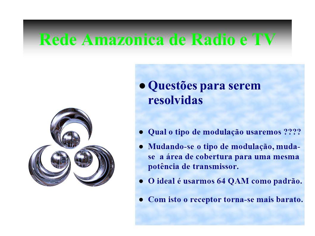 Rede Amazonica de Radio e TV Questões para serem resolvidas Qual o tipo de modulação usaremos .