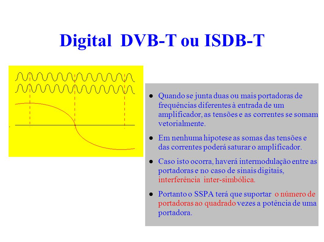 Conclusão temos que desenvolver o Sistema Brasileiro de TV Digital ( S B T V D ) S/FILTRO C/FILTRO