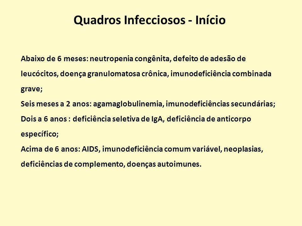 PATÓGENOIMUNODEFICIÊNCIA Staphylococcus aureus, Streptococcus pneumoniae, Haemophilus influenzae b, Neisseria, Enterovirus Deficiência de Anticorpos, asplenia, AIDS, def.