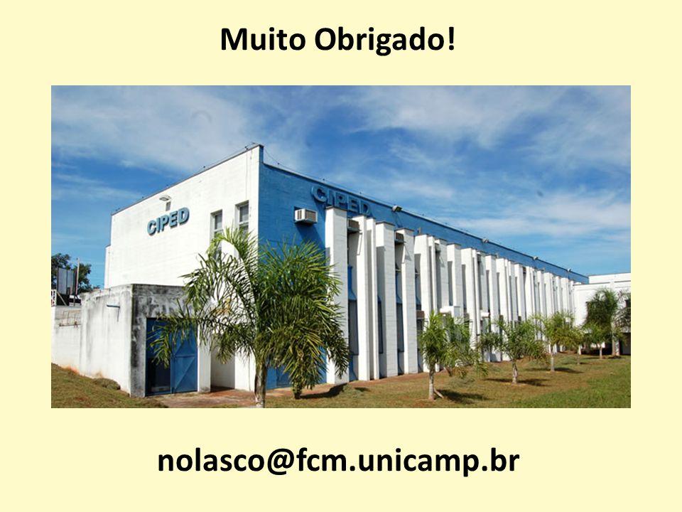 Muito Obrigado! nolasco@fcm.unicamp.br