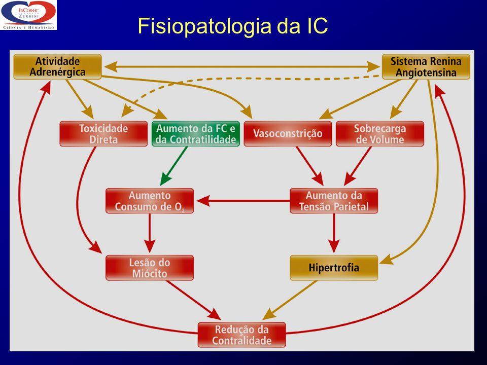 ICC - Expectativa de Vida 0 0 25 50 75 100 6 6 12 18 24 30 36 Meses de Seguimento % SOLVD (CF II / III) CONSENSUS (CF IV) Ch.