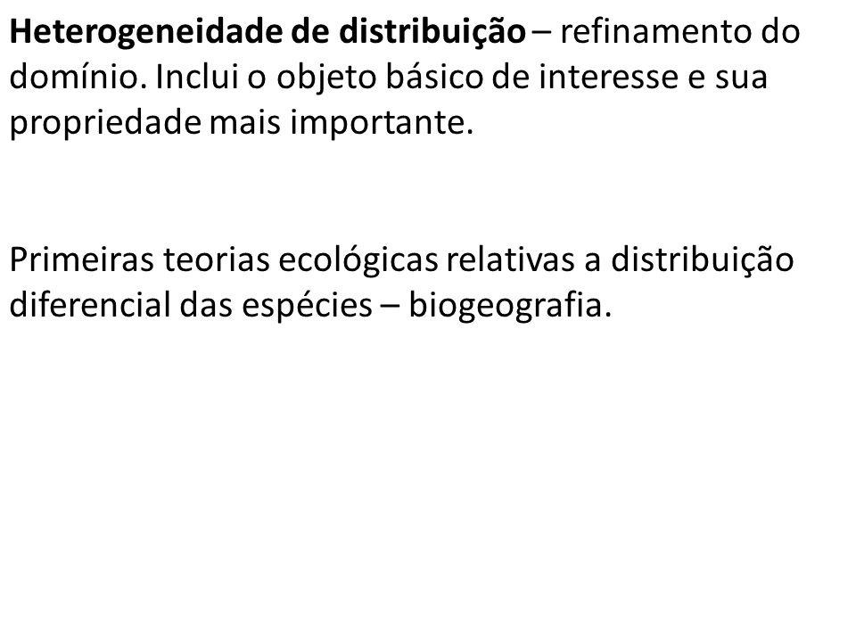 Heterogeneidade de distribuição – refinamento do domínio.