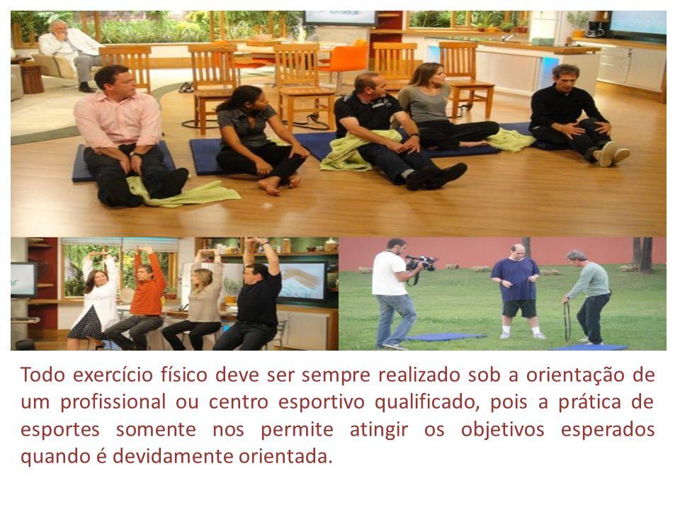 Todo exercício físico deve ser sempre realizado sob a orientação de um profissional ou centro esportivo qualificado, pois a prática de esportes soment