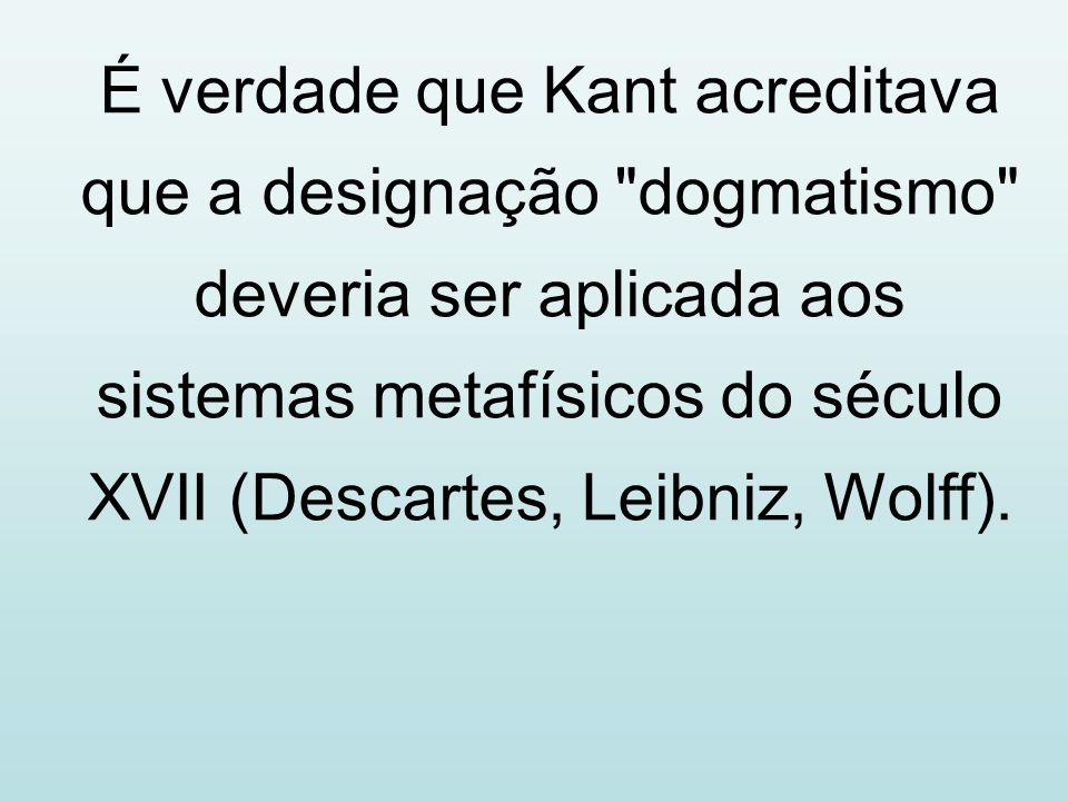 É verdade que Kant acreditava que a designação