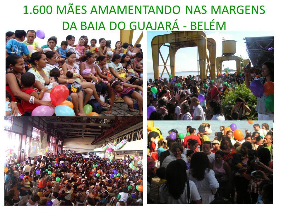 1.600 MÃES AMAMENTANDO NAS MARGENS DA BAIA DO GUAJARÁ - BELÉM