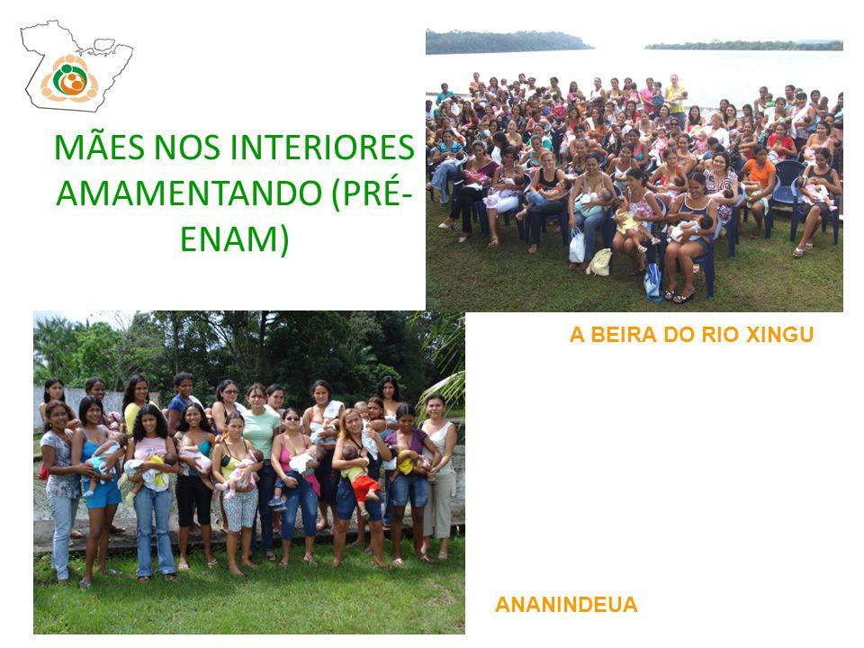 MÃES NOS INTERIORES AMAMENTANDO (PRÉ- ENAM) ANANINDEUA A BEIRA DO RIO XINGU
