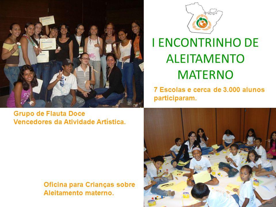 I ENCONTRINHO DE ALEITAMENTO MATERNO 7 Escolas e cerca de 3.000 alunos participaram.