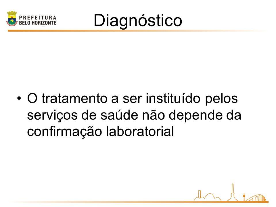 Diagnóstico O tratamento a ser instituído pelos serviços de saúde não depende da confirmação laboratorial