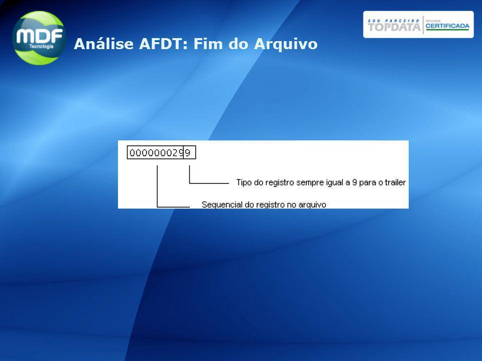 Análise AFDT: Fim do Arquivo