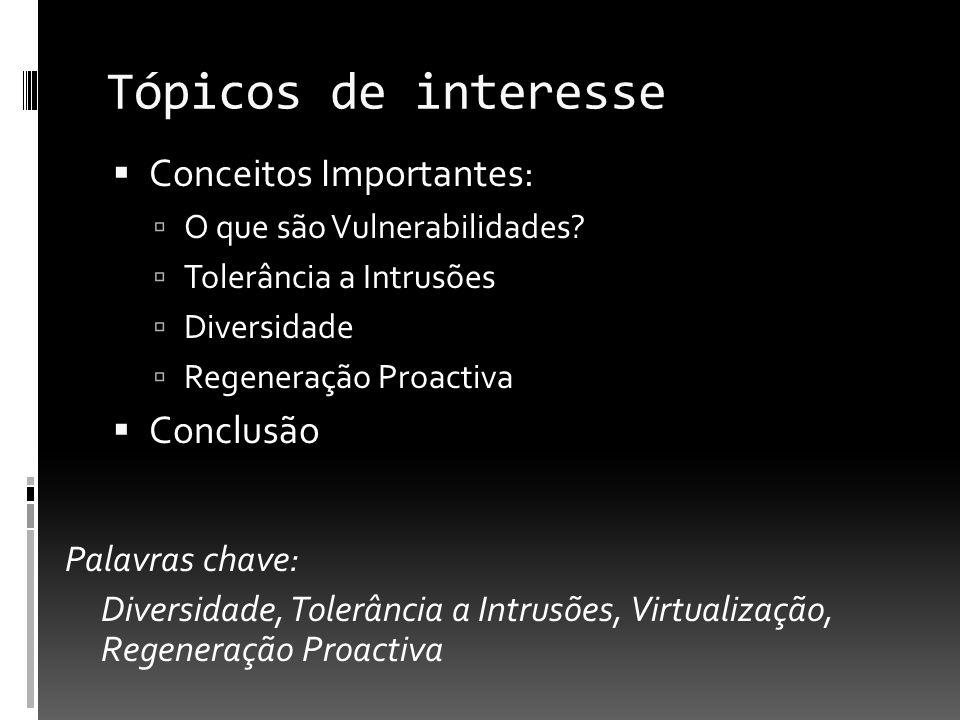Tópicos de interesse Conceitos Importantes: O que são Vulnerabilidades.