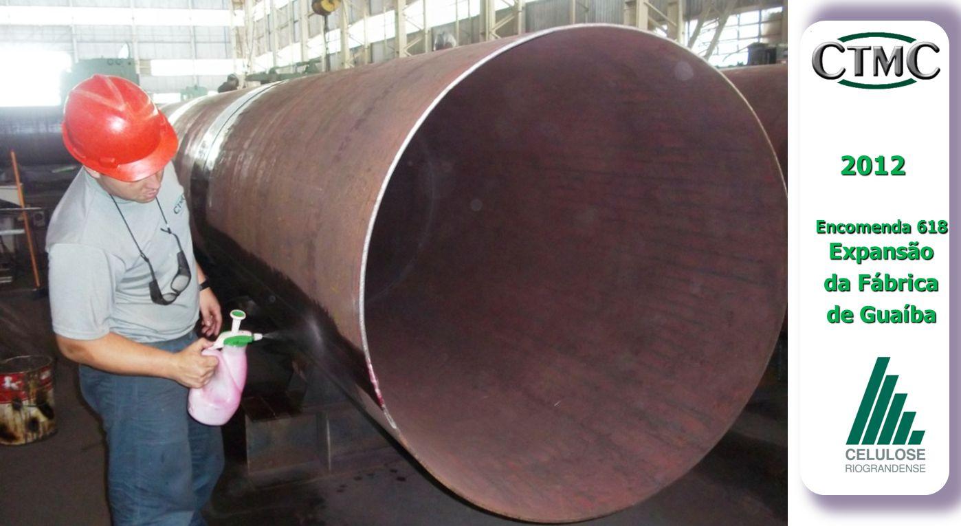 2012 Encomenda 618 Expansão da Fábrica de Guaíba Evolução dos Trabalhos: Inspeção de Solda - LP