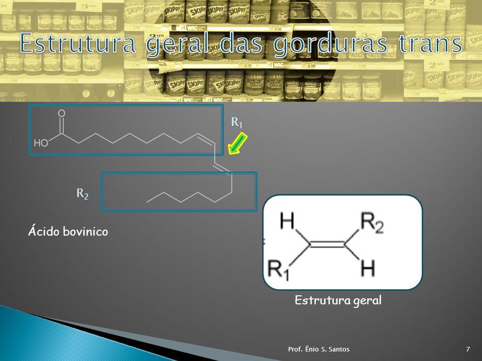 Ácido bovinico Estrutura geral R1R1 R2R2 7Prof. Ênio S. Santos