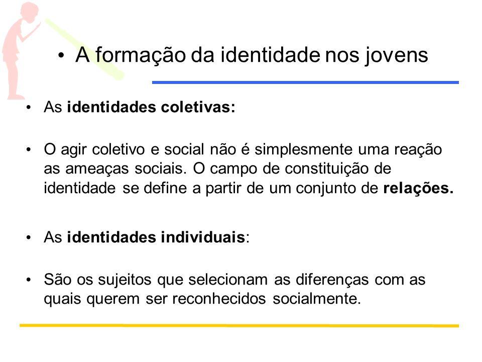 A formação da identidade nos jovens As identidades coletivas: O agir coletivo e social não é simplesmente uma reação as ameaças sociais.