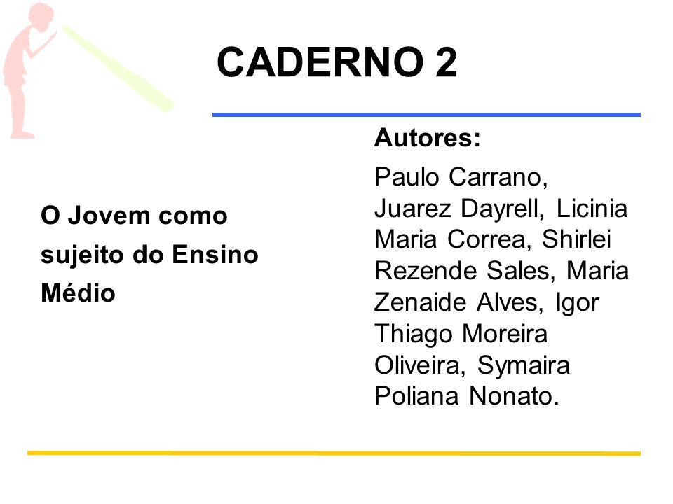 Caderno 2 - O jovem como sujeito do Ensino Médio SUMÁRIO Introdução 1.