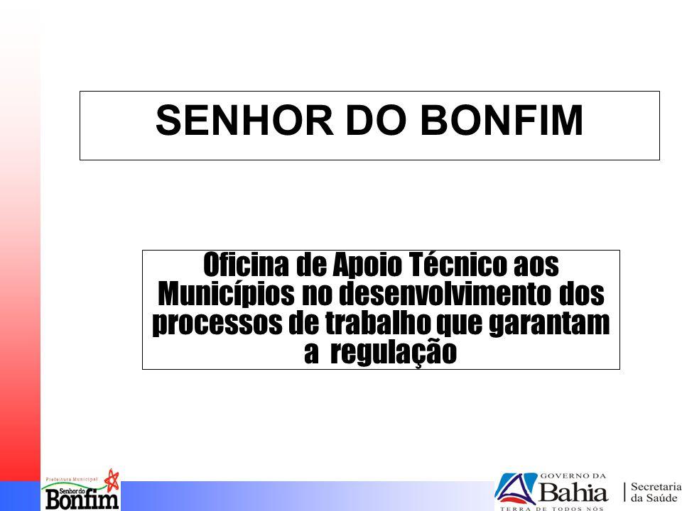 SENHOR DO BONFIM Oficina de Apoio Técnico aos Municípios no desenvolvimento dos processos de trabalho que garantam a regulação