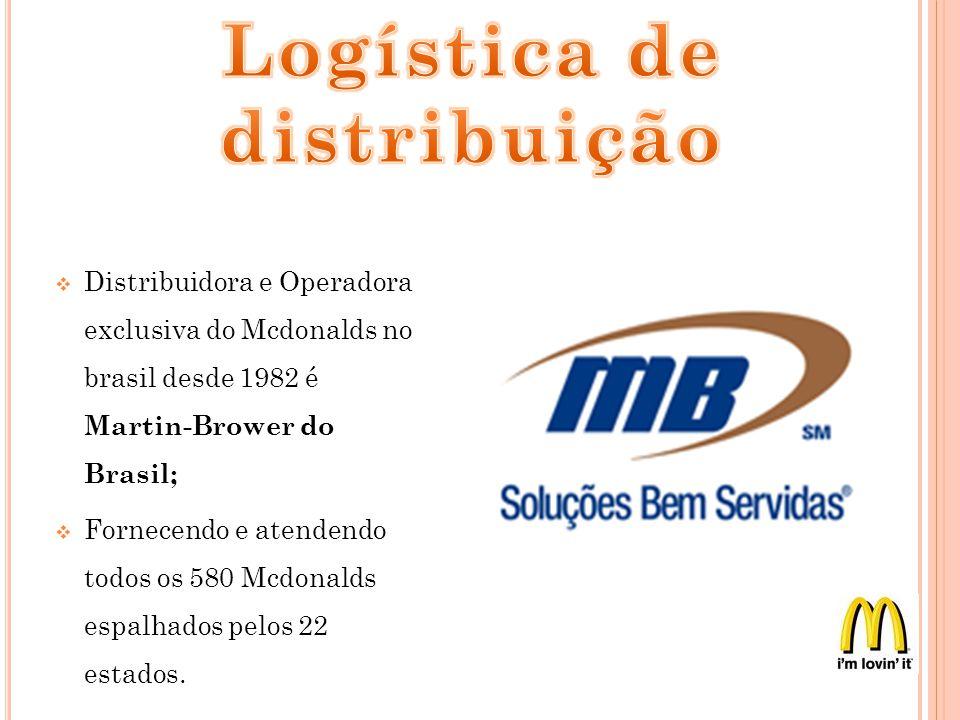 Distribuidora e Operadora exclusiva do Mcdonalds no brasil desde 1982 é Martin-Brower do Brasil; Fornecendo e atendendo todos os 580 Mcdonalds espalha