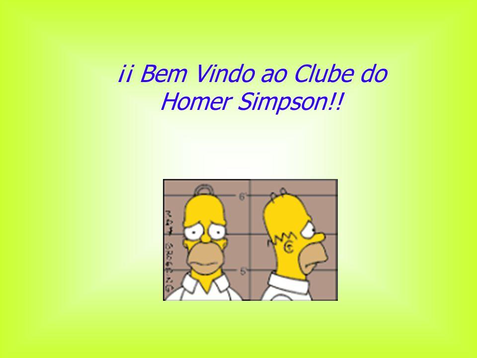 ¡¡ Bem Vindo ao Clube do Homer Simpson!!