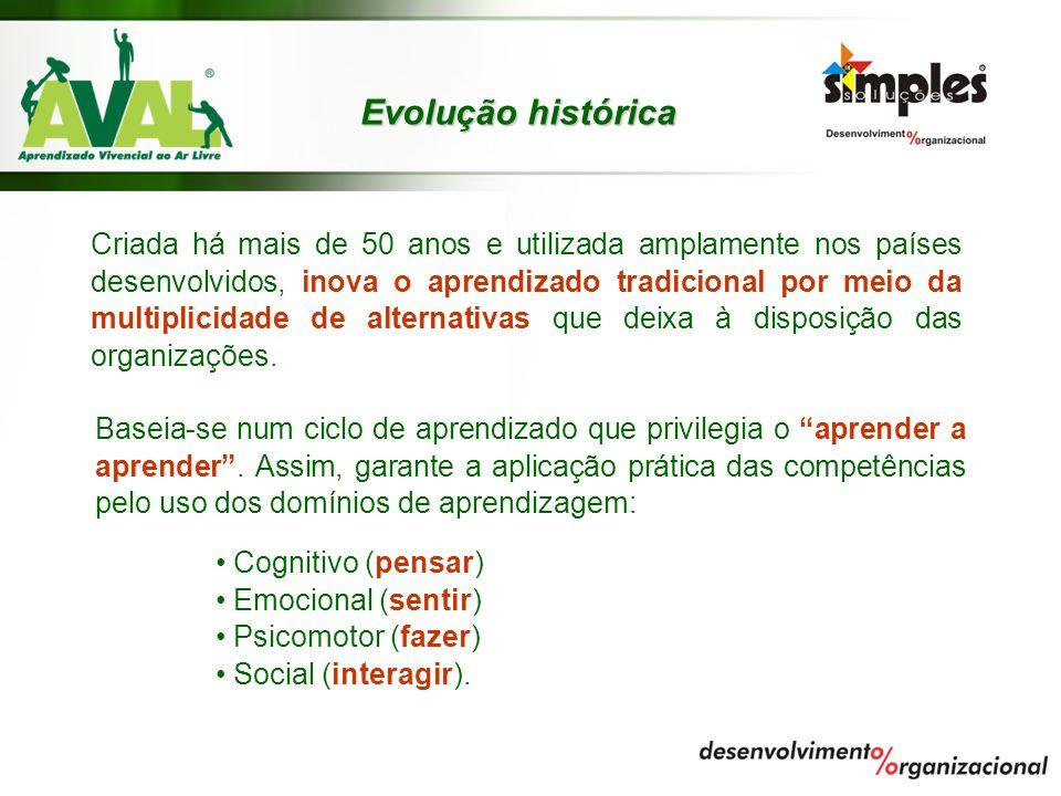 Evolução histórica Criada há mais de 50 anos e utilizada amplamente nos países desenvolvidos, inova o aprendizado tradicional por meio da multiplicida