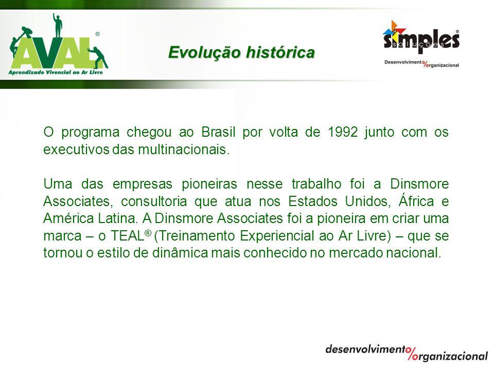 Evolução histórica O programa chegou ao Brasil por volta de 1992 junto com os executivos das multinacionais. Uma das empresas pioneiras nesse trabalho