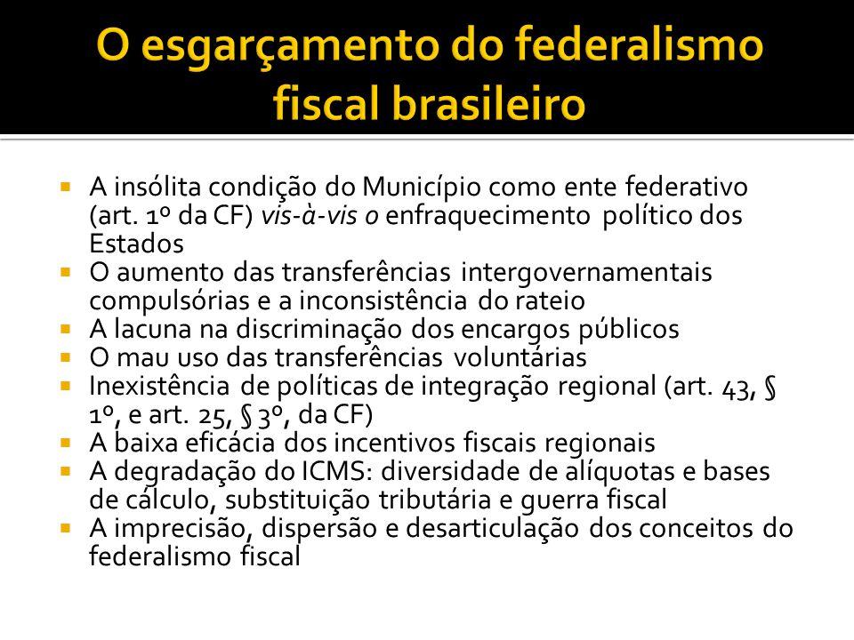 A insólita condição do Município como ente federativo (art.