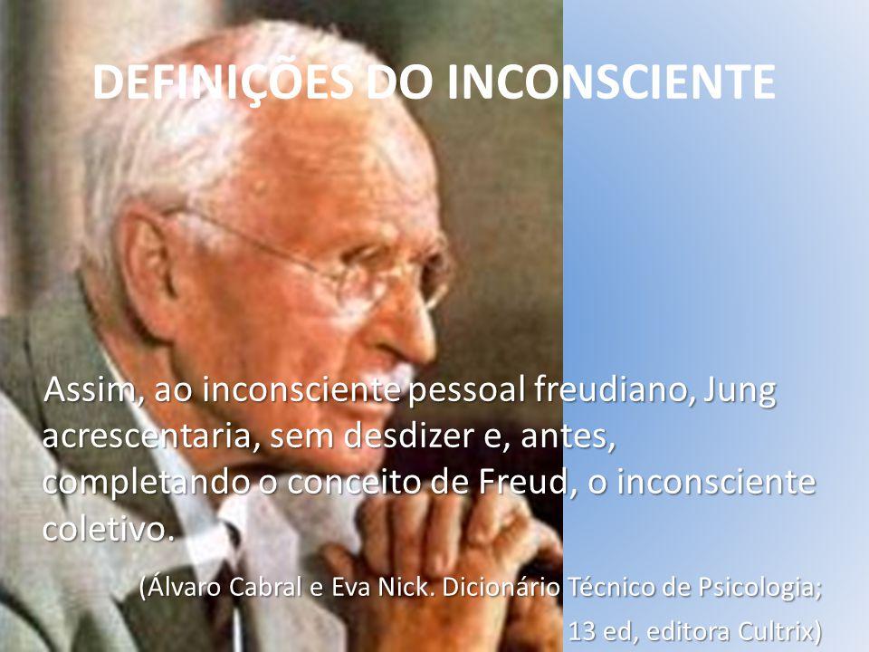 O que é o Inconsciente É o acúmulo de impressões que não são ainda conhecidas pela Consciência ou estado consciente.