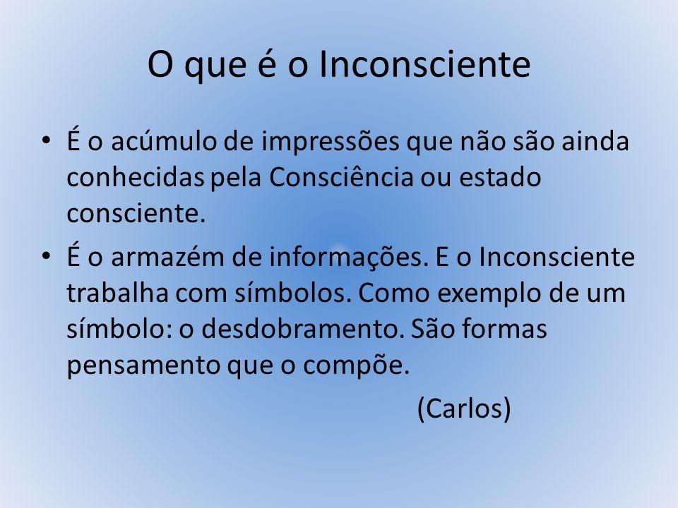 O QUE É O INCONSCIENTE É uma forma de vida desconhecida devido a ausência de admissão da Vida Interior.