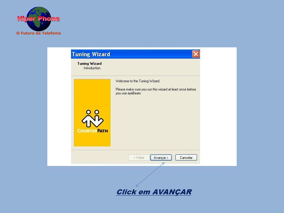 Click em AVANÇAR