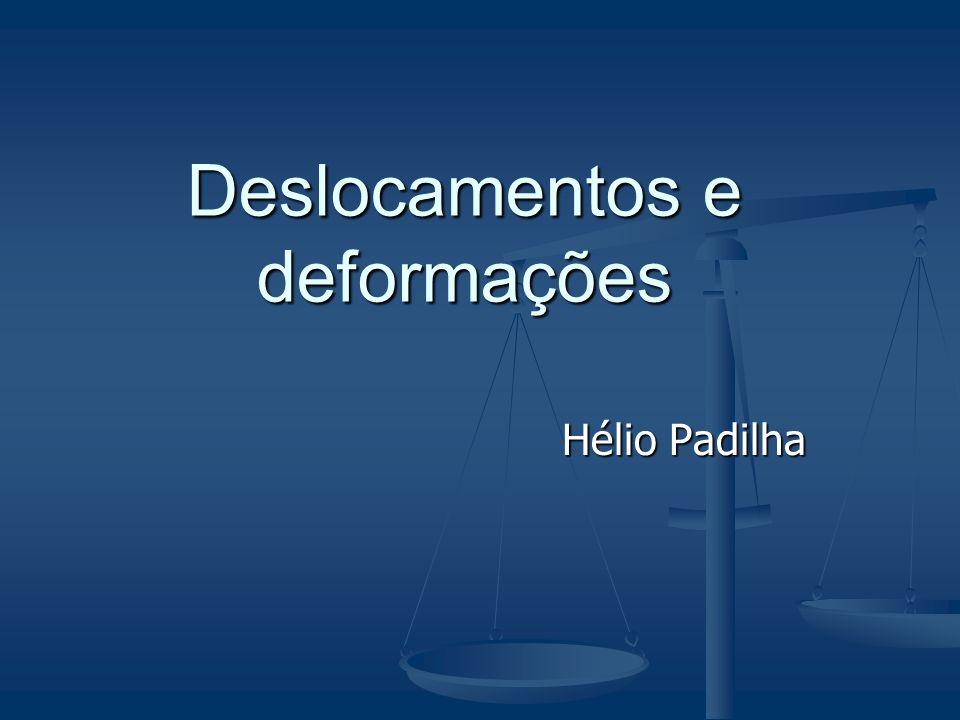 Hélio Padilha Deslocamentos e deformações