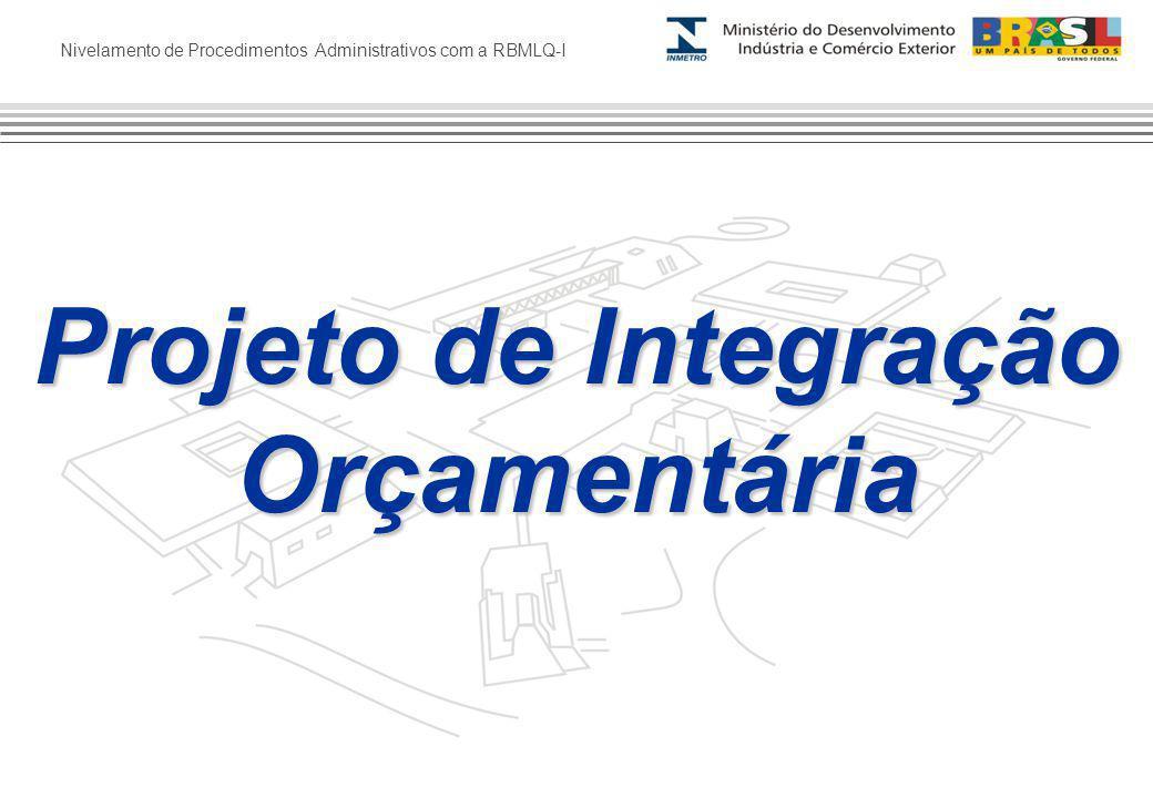 Nivelamento de Procedimentos Administrativos com a RBMLQ-I Projeto de Integração Orçamentária