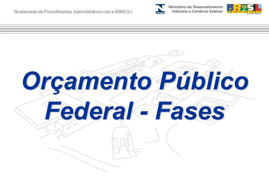 Nivelamento de Procedimentos Administrativos com a RBMLQ-I Orçamento Público Federal - Fases