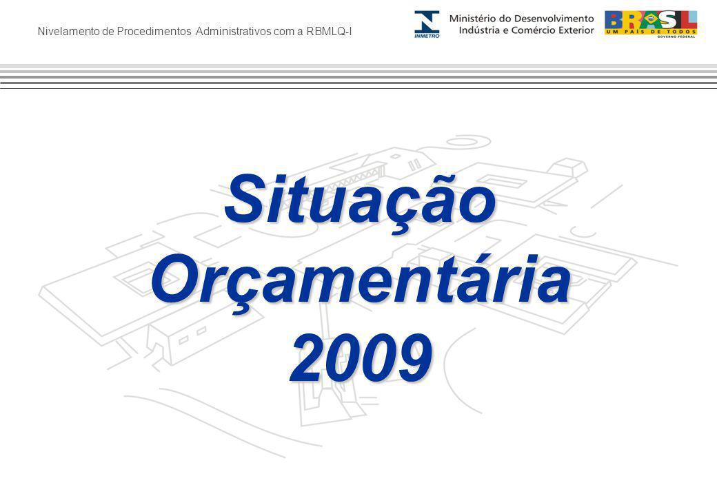 Nivelamento de Procedimentos Administrativos com a RBMLQ-I SituaçãoOrçamentária2009