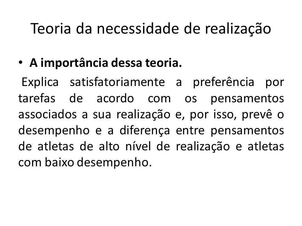 Teorias da motivação para a realização TEORIA DA ATRIBUIÇÃO.
