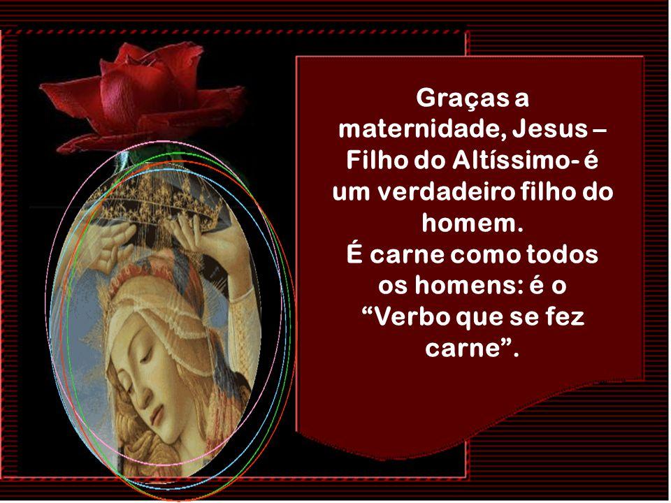 É o evangelho em que Maria está presente como a mãe que concebe Jesus no seu seio, o dá à luz e maternalmente o amamenta: a mãe-nutriz, a que alude aq