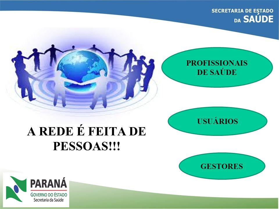 A REDE É FEITA DE PESSOAS!!! PROFISSIONAIS DE SAÚDE USUÁRIOS GESTORES